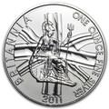 Великобритания 2 фунта 2011 Британия (GB 2£ 2011 Britannia 1 Oz Silver Coin).Арт.67
