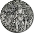 Тувалу 2 доллара 2017 Северные Боги Фрейя (Tuvalu 2$ 2017 Norse Goddesses Freya 2 oz Silver High Relief).Арт.000714354269/67