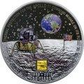Острова Кука 20 долларов 2019 Высадка на Луну 50 лет Аполлон 11 Космос (Cook Islands 20$ 2019 Apollo 11 Moon Landing 50th Anniversary 3 Oz Silver Coin).Арт.67