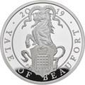 Великобритания 2 фунта 2019 Йейл Бофорт серия Звери Королевы (GB 2£ 2019 Queen's Beast Yale of Beaufort Silver Coin).Арт.67