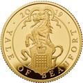 Великобритания 100 фунтов 2019 Йейл Бофорт серия Звери Королевы (GB 100£ 2019 Queen's Beast Yale of Beaufort Gold Coin).Арт.67