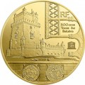 Франция 50 евро 2019 Башня Белем Васко де Гама Корабль (France 50E 2019 Tower Belem Vasco de Gama Gold Proof Coin).Арт.67