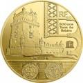Франция 50 евро 2019 Башня Белем Васко де Гама Корабль (France 50E 2019 Tower Belem Vasco de Gama Gold Proof Coin).Арт.67