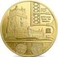 Франция 200 евро 2019 Башня Белем Васко де Гама Корабль (France 200E 2019 Tower Belem Vasco de Gama Gold Proof Coin).Арт.67