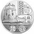 Франция 10 евро 2019 Башня Белем Васко де Гама Корабль (France 10E 2019 Tower Belem Vasco de Gama Silver Proof Coin).Арт.67