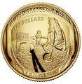 Соединенные Штаты Америки 5 долларов 2019 Высадка на Луну 50 лет Аполлон 11 Космос (2019 USA 5$ Apollo 11 Moon Landing 50th Anniversary Gold Coin Proof).Арт.002067855894/67