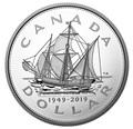 Канада доллар 2019 Корабль Мэтью Ньюфаундленд 70 лет Вхождение в Состав Канады (Canada Dollar 2019 70th Anniversary of Newfoundland Joining Canada Matthew Ship 5 oz Silver Coins).Арт.67