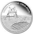 Австралия 1 доллар 2019 Высадка на Луну 50 лет Выпуклая Космос (Australia 1$ 2019 Moon Landing 50th Anniversary 1 oz Silver Coin).Арт.67