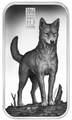 Острова Кука 1 доллар 2016 Динго Хищники Австралии (Cook Islands 1$ 2016 Dingo Australian Apex Predators Silver Coins).Арт.67