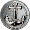 Острова Кука 10 долларов 2019 Якорь (Cook Islands 10$ 2019 Anchor Fair Winds 2 oz Silver Coins).Арт.67