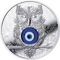 Ниуэ 1 доллар 2019 Сова Амулет (Niue 1$ 2019 Owl Amulet Silver Coin).Арт.67