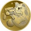 Франция 50 евро 2019 Высадка на Луну 50 лет Космос (France 50E 2019 Moon Landing 50th Anniversary Gold Coin).Арт.67
