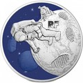 Франция 50 евро 2019 Первый Шаг на Луну 50 лет Космос (France 50E 2019 First Step on the Moon 50th Anniversary Silver Coin).Арт.002615457876/67