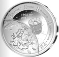 Бельгия 20 евро 2018 Запуск Первого Европейского Спутника Космос (Belgium 20E 2018 Esro-2B Satellite Silver Coin).Арт.67