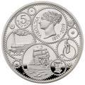 Великобритания 5 фунтов 2019 Королева Виктория 200 лет Корабль Паровоз Велосипед (GB 5£ 2019 200th Anniversary of the Birth of Queen Victoria Silver Proof Coin).Арт.67
