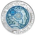 Австрия 25 евро 2019 Искусственный Интеллект (Austria 25 euro 2019 Artificial Intelligence Silver Niobium Coin).Арт.67