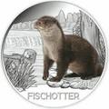 Австрия 3 евро 2019 Выдра (Colourful Creatures The Otter Austria 3 euro 2019).Арт.67