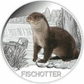 Австрия 3 евро 2019 Выдра (Colourful Creatures The Otter Austria 3 euro 2019).Арт.67
