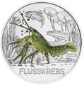 Австрия 3 евро 2019 Рак (Colourful Creatures The Crayfish Austria 3 euro 2019).Арт.67