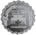 Канада 30 долларов 2019 Морской Путь Святого Лаврентия 60 лет Корабль Якорь Шлюз (Canada 30$ 2019 The 60th Anniversary of the St. Lawrence Seaway Ship 2Oz Silver Coin).Арт.67