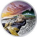 Канада 20 долларов 2019 Выдра Животные Канады (Canada 20$ 2019 Canadian Fauna The Otter Silver Coin).Арт.67