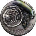 Тувалу 2 доллара 2019 Чужой НЛО Космос (Tuvalu 2$ 2019 Alien 40th Anniversary 2oz Silver Antiqued Coin).Арт.67