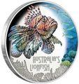 Тувалу 1 доллар 2019 Рыба Крылатка серия Смертельно Опасные (Tuvalu 1$ 2019 Deadly Dangerous LionFish 1Oz Silver Coin).Арт.67