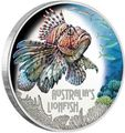 Тувалу 1 доллар 2019 Рыба Крылатка серия Смертельно Опасные (Tuvalu 1$ 2019 Deadly and Dangerous LionFish 1Oz Silver Coin).Арт.92