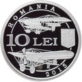 Румыния 10 леи 2015 Авиационный Корпус Румынии 100 лет Самолет Фарман и Блерио (2015 Romania 10 lei 100 Years since The Establishment of the Romanian Aviation Corps Silver Coin).Арт.67