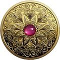 Канада 200 долларов 2019 Мадагаскарский Рубин Свет и Процветание (Canada 200$ 2019 Ruby Celebrating Canada's Diversity Light and Prosperity 1 oz Gold Coin).Арт.65