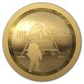Канада 100 долларов 2019 Аполлон 11 Высадка на Луну 50 лет Космос Выпуклая Форма (Canada 100$ 2019 Apollo 11 Moon Landing 50th Anniversary Gold Coin).Арт.65