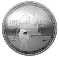 Канада 25 долларов 2019 Аполлон 11 Высадка на Луну 50 лет Космос Выпуклая Форма (Canada 25$ 2019 Apollo 11 Moon Landing 50th Anniversary Silver Coin).Арт.65