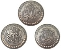 Гана 3х5 седи 2019 Морские Сокровища Корабль Якорь Осьминог Жемчуг Набор 3 монеты (Ghana 3x5 Cedis 2019 Treasures of the Deep Sea Ship Anchor Octopus Pearls Silver Coin Set).Арт.002261357240/65