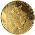 Канада 350 долларов 2019 Пума Портреты Дикой Природы (Canada 350$ 2019 Cougar Wildlife Portraits 35 gr Gold Proof Coin).Арт.1295EK1.432600E/75