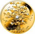 Ниуэ 100 долларов 2019 Дерево Удачи Бриллиант (Niue 100$ 2019 Tree of Luck Diamond 1,5 Oz Gold Coin).Арт.75