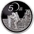 Швейцария 20 франков 2019 Аполлон 11 Высадка на Луну 50 лет Космос (Switzerland 20 Francs 2019 Apollo 11 Moon Landing 50th Anniversary Silver Coin).Арт.65