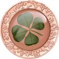 Палау 5 долларов 2020 Клевер Унция Удачи (Palau 5$ 2020 Ounce of Luck 4-leaf Clover 1 oz Silver Coin).Арт.65