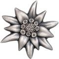 Монголия 500 тугриков 2019 Эдельвейс Горная Звезда Фигурка (Mongolia 500T 2019 Edelweiss Mountain Star 1 oz Silver Coin).Арт.65