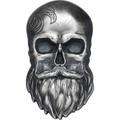 Палау 5 долларов 2019 Череп Байкера (Palau 5$ 2019 Biker Skull 1 oz Silver Coin).Арт.65