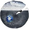 Острова Кука 2 доллара 2019 Метеорит Эстакадо (Cook Isl 2$ 2019 Meteorite Estacado ½ Oz Titanium Silver).Арт.65