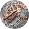 Монголия 500 тугриков 2019 Синраптор Эволюция (Mongolia 500T 2019 Evolution of Life Sinraptor 1oz Silver Coin).Арт.65