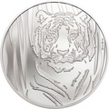 Монголия 250 тугриков 2019 Тигр (Mongolia 250T 2019 Hidden Tiger ½ oz Silver Coin Blister).Арт.65