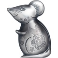 Монголия 1000 тугриков 2020 Остроумная Серебряная Мышка Фигурка (Mongolia 1000T 2020 Witty Silver Mouse 1 oz Silver Coin).Арт.65