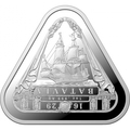 Австралия 1 доллар 2019 Корабль Батавия Австралийские Кораблекрушения (Australia 1$ 2019 Batavia Australian Shipwrecks First Triangular Bullion 1 oz Silver Coin).Арт.65