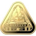 Австралия 100 долларов 2019 Корабль Батавия Австралийские Кораблекрушения (Australia 100$ 2019 Batavia Australian Shipwrecks First Triangular Bullion 1 oz Gold Coin).Арт.65