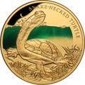 Ниуэ 100 долларов 2020 Змеиношеяя Черепаха Замечательные Рептилии (Niue 100$ 2020 Remarkable Reptile Snake Neck Turtle 1Oz Gold Proof).Арт.65
