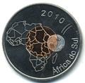 Кабинда 2,5 реала 2010 Футбол Чемпионат Мира Южная Африка 2010 Биметалл (Cabinda 2,5R 2010 Football World Cup in South Africa).Арт.000033434202/65