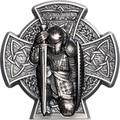 Остров Мэн 5 фунтов 2019 Мананнан Первый Король Острова Мэн Кельтский Крест (Isle of Man 5£ 2019 Manannán 1st King of Mann 3 Oz Coin Silver).Арт.65