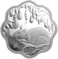 Канада 15 долларов 2020 Год Крысы Лунный Календарь серия Лотос (Canada 15$ 2020 Year of the Rat Lunar Lotus Silver Coin Proof).Арт.000450657572/65