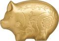 Монголия 1000 тугриков 2019 Веселая Свинья Фигурка (Mongolia 1000 Togrog 2019 Gilded Jolly Pig Silver Coin 1oz).Арт.000697957128/65